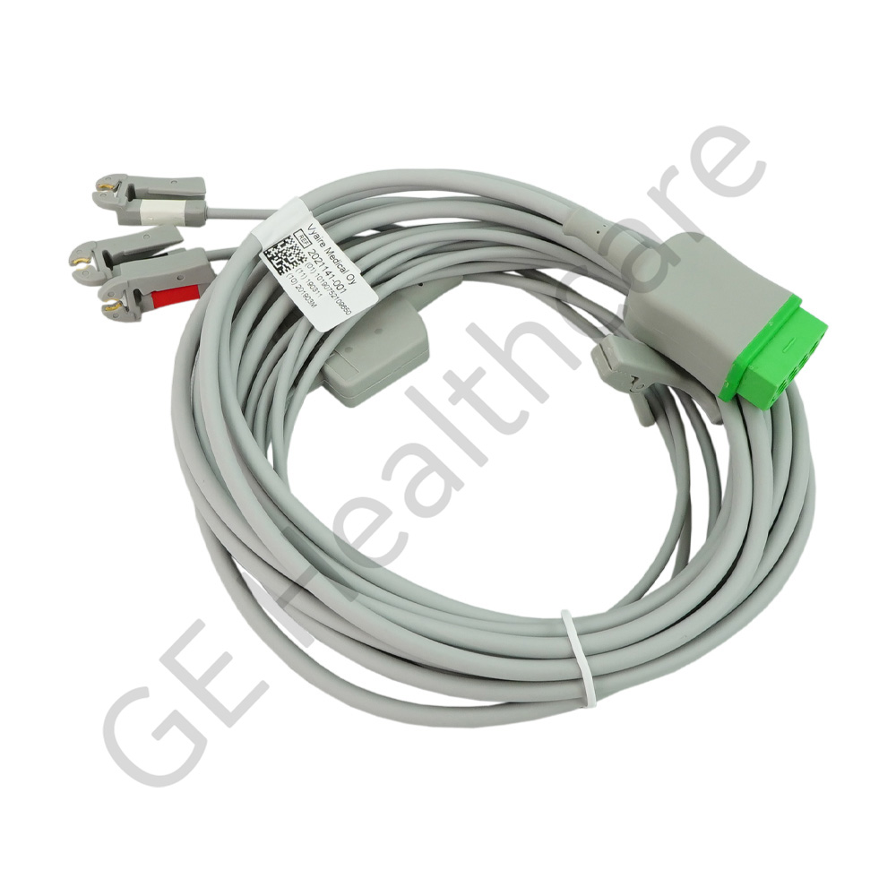 Cable Assembly ECG 3 Lead W/Grab Aha