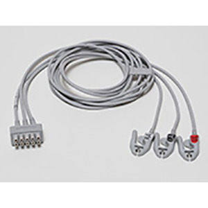 ECG Leadwire Set, 3-Lead, Grabber, AHA, 130 cm/51 in