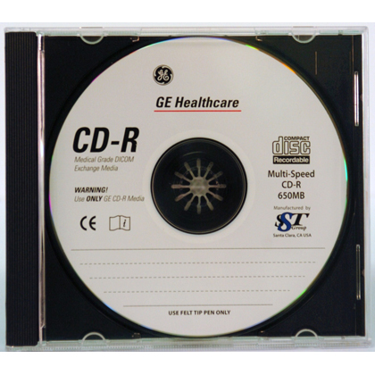 650MB CD-R Medical Grade Media 100/Pack Jewel Case